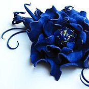 Украшения handmade. Livemaster - original item the colors of the skin. brooch pin sapphire . natural suede.. Handmade.
