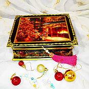 """Для дома и интерьера handmade. Livemaster - original item Шкатулка """"Рождество"""". Handmade."""