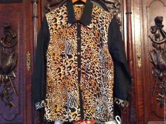 Одежда. Ярмарка Мастеров - ручная работа. Купить Просто блузка, винтаж, Южная Корея, НОВАЯ. Handmade. Комбинированный, Женская блузка