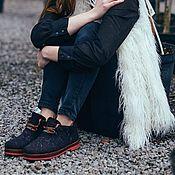 Обувь ручной работы. Ярмарка Мастеров - ручная работа Эко ботиночки из шерсти Вулкан. Handmade.