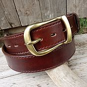 Аксессуары handmade. Livemaster - original item Men`s belt, under jeans, leather.. Handmade.