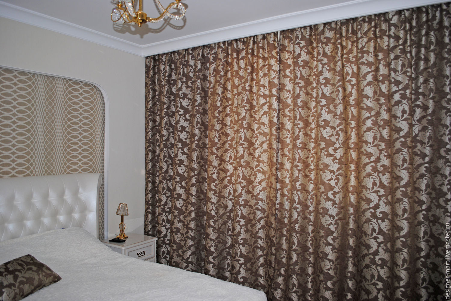 Curtains for bedroom with floral pattern, Curtains1, Moscow,  Фото №1