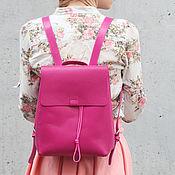 Рюкзак из натуральной кожи Divalli B003 fuchsia