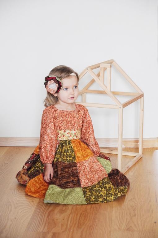 """Одежда для девочек, ручной работы. Ярмарка Мастеров - ручная работа. Купить Платье для девочки """"Корица"""". Handmade. Коричневый, платье, корица"""