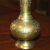 Винтаж handmade. Livemaster - original item Vintage decorative vase hand-engraved, India?. Handmade.