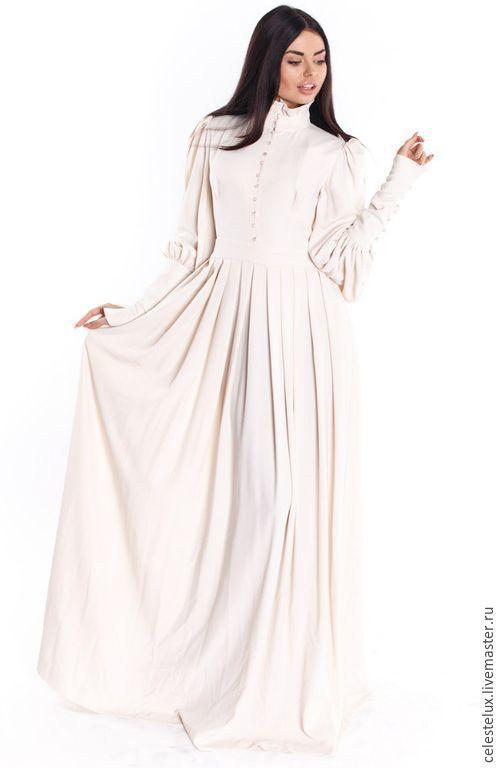 Платья ручной работы. Ярмарка Мастеров - ручная работа. Купить Wite lily уютное платье в пол. Handmade. Белый, стиль