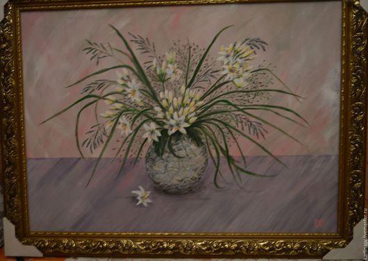 """Картины цветов ручной работы. Ярмарка Мастеров - ручная работа. Купить Картина """"Нежность"""". Handmade. Бледно-розовый, подарок, картон"""