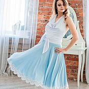 Одежда handmade. Livemaster - original item Skirt blue. Handmade.