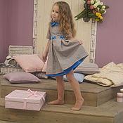 """Работы для детей, ручной работы. Ярмарка Мастеров - ручная работа платье """"Лазурно-персиковое"""". Handmade."""