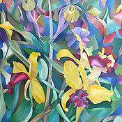 """Картины и панно ручной работы. Ярмарка Мастеров - ручная работа """"Орхидеи"""" картина маслом 70х90. Handmade."""