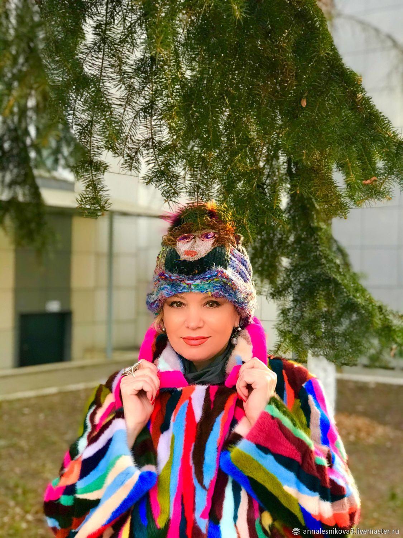 """Вязаная шапка ручной работы """"ПОЛГОДА ПЛОХАЯ ПОГОДА», Шапки, Москва,  Фото №1"""
