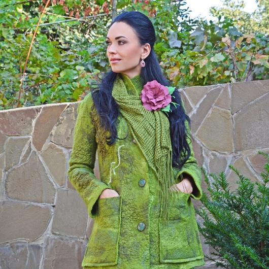 """Верхняя одежда ручной работы. Ярмарка Мастеров - ручная работа. Купить Пальто валяное  """"Twist"""". Handmade. Абстрактный, Жилет женский"""