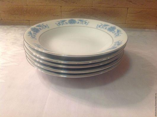 Винтажная посуда. Ярмарка Мастеров - ручная работа. Купить Набор 5 глубоких тарелок. Япония. 60-е.. Handmade. Комбинированный