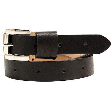 Accessories handmade. Livemaster - original item Copy of Copy of Copy of Copy of Black leather belt. Handmade.