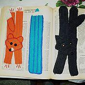 Канцелярские товары ручной работы. Ярмарка Мастеров - ручная работа Закладки вязаные для книг. Handmade.