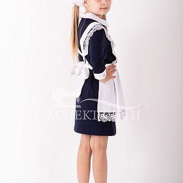Товары для малышей ручной работы. Ярмарка Мастеров - ручная работа Фартук белый школьный, 3-284-1бд. Handmade.