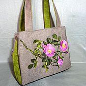 Classic Bag handmade. Livemaster - original item Bag with three parts rose Hips. Handmade.
