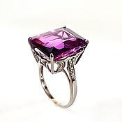 "handmade. Livemaster - original item Silver ring purple sapphire ""Soul"". Handmade."
