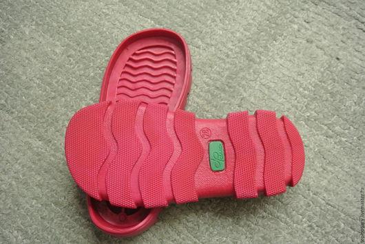 Обувь ручной работы. Ярмарка Мастеров - ручная работа. Купить подоша детская. Handmade. Ярко-красный, подошва для ботинок