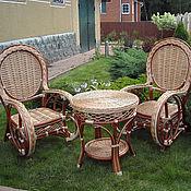 Для дома и интерьера ручной работы. Ярмарка Мастеров - ручная работа Набор мебели: 2 кресла с журнальным столиком. Handmade.