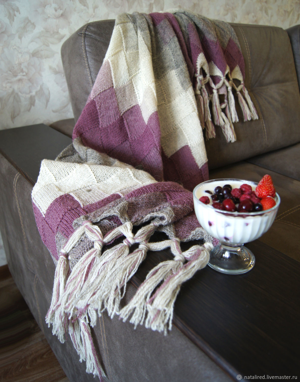 "Палантин - плед ""Ягодный десерт"" из шерсти Кауни, Палантины, Самара,  Фото №1"