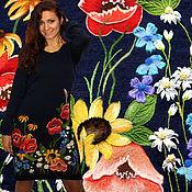 """Одежда handmade. Livemaster - original item Вязаное платье с цветами, ручная вышивка """" Летнее цветение """". Handmade."""