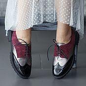 Обувь ручной работы. Ярмарка Мастеров - ручная работа Женские дерби Anna Chaqrua. Handmade.