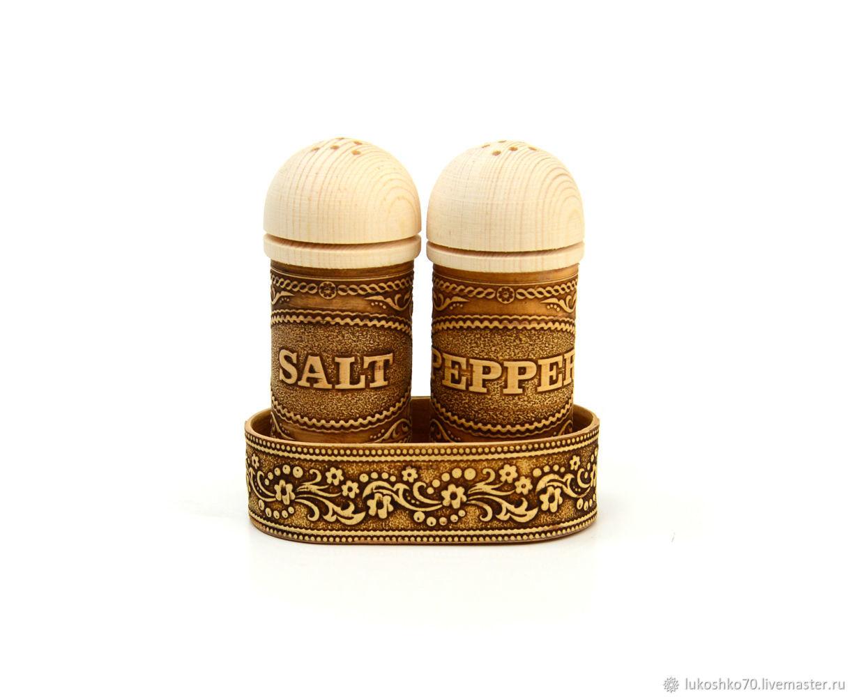 Salt-Pepper Spice Set. Set for kitchen, Salt and pepper shakers, Tomsk,  Фото №1