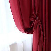 Для дома и интерьера ручной работы. Ярмарка Мастеров - ручная работа Шторы бордовые из сатена. Handmade.