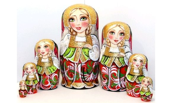 Матрешка Василина 7м 21см, Народная кукла, Шатура,  Фото №1