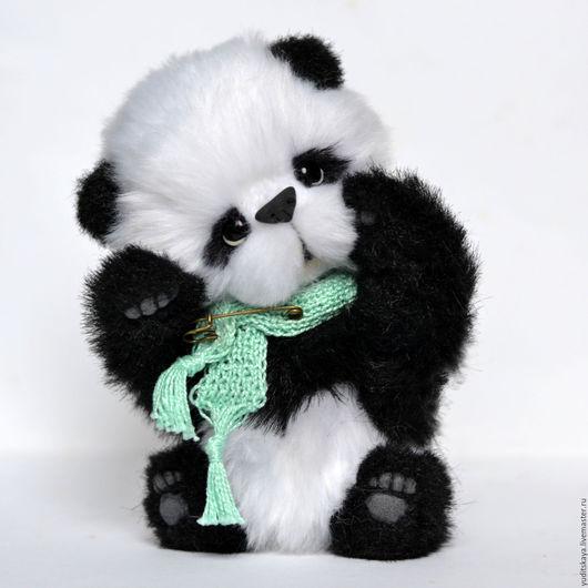 Мишки Тедди ручной работы. Ярмарка Мастеров - ручная работа. Купить Панда тедди Бамбук. Handmade. Черный, пандочка тедди