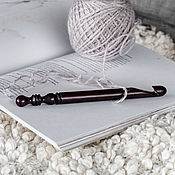 Материалы для творчества handmade. Livemaster - original item 12mm Cedar Wood Knitting Hook. K286. Handmade.