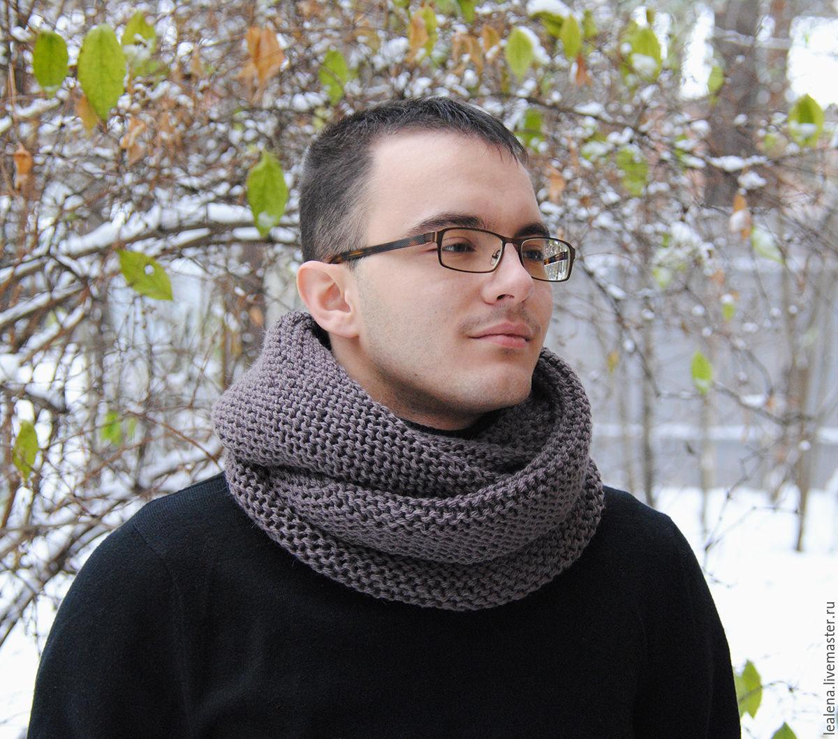 Мужской шарф-снуд \
