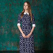 Одежда ручной работы. Ярмарка Мастеров - ручная работа Платье романтичный образ из вискозы. Handmade.