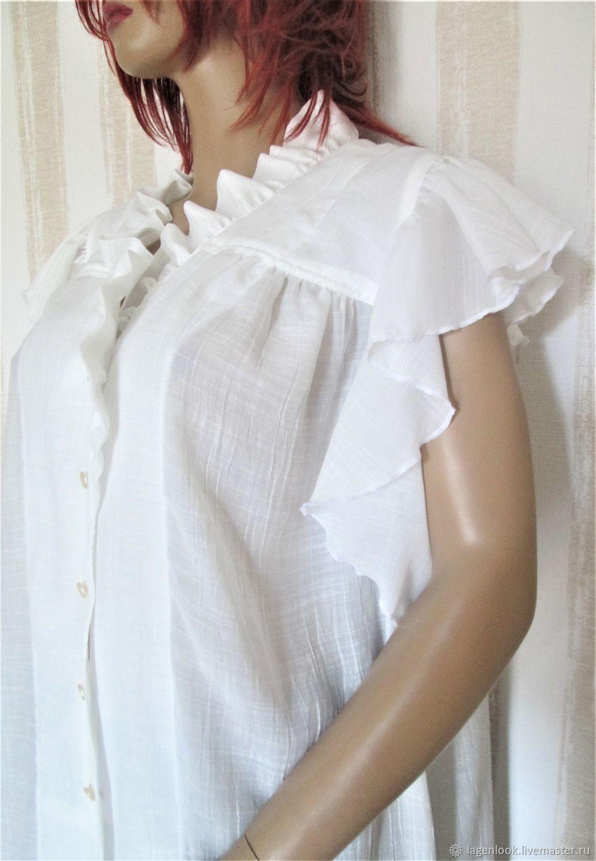 Shirt: White cotton blouse, Shirts, Tallinn,  Фото №1