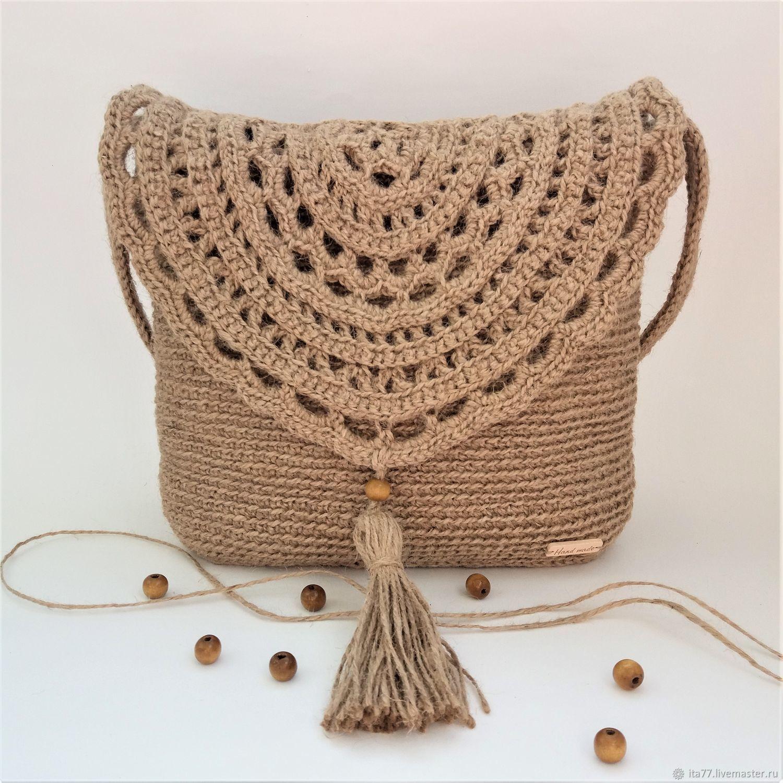 579ee1947c3d Женские сумки ручной работы. Ярмарка Мастеров - ручная работа. Купить Сумка  вязаная из джута ...