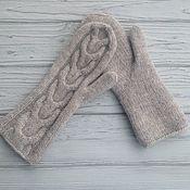 Аксессуары handmade. Livemaster - original item Mittens knitted felted braid. Handmade.