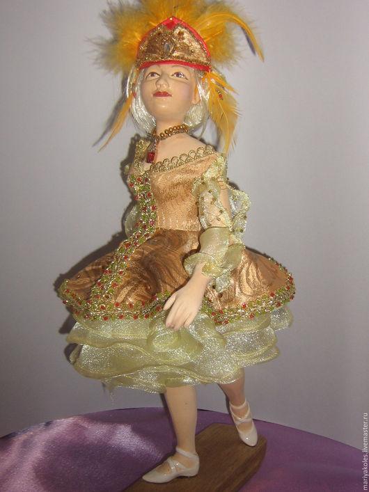 Коллекционные куклы ручной работы. Ярмарка Мастеров - ручная работа. Купить Жар-птица. Handmade. Золотой, кукла в подарок, бисер