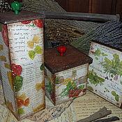 """Для дома и интерьера ручной работы. Ярмарка Мастеров - ручная работа """"Итальянская кухня"""" - кухонный набор. Handmade."""