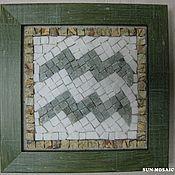 """Подарки к праздникам ручной работы. Ярмарка Мастеров - ручная работа """"Водолей"""" панно-мозаика из мрамора 10х10 см. Handmade."""