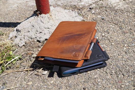 Ежедневники ручной работы. Ярмарка Мастеров - ручная работа. Купить ежедневник -блокнот -notebook коричневый. Handmade. Коричневый, хенд мейд