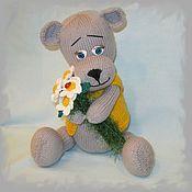 Куклы и игрушки handmade. Livemaster - original item Bear with daisies. Handmade.