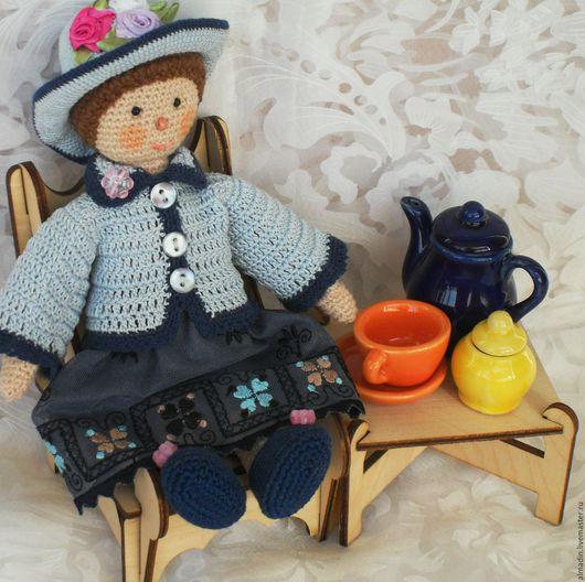 Развивающие игрушки ручной работы. Ярмарка Мастеров - ручная работа. Купить Куколка-барышня. Handmade. Кукла ручной работы, вязание