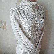"""Одежда ручной работы. Ярмарка Мастеров - ручная работа свитер""""Белые косы"""". Handmade."""