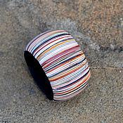 Украшения ручной работы. Ярмарка Мастеров - ручная работа браслет из полимерной глины широкий Байкальские дюны повтор. Handmade.