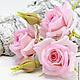 """Заколки ручной работы. Ярмарка Мастеров - ручная работа. Купить Розы на шпильках """"Fiore rosa giardino"""". Флористическая глина.. Handmade."""