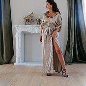 Одежда ручной работы. Ярмарка Мастеров - ручная работа Платье-рубашка в пол. Handmade.