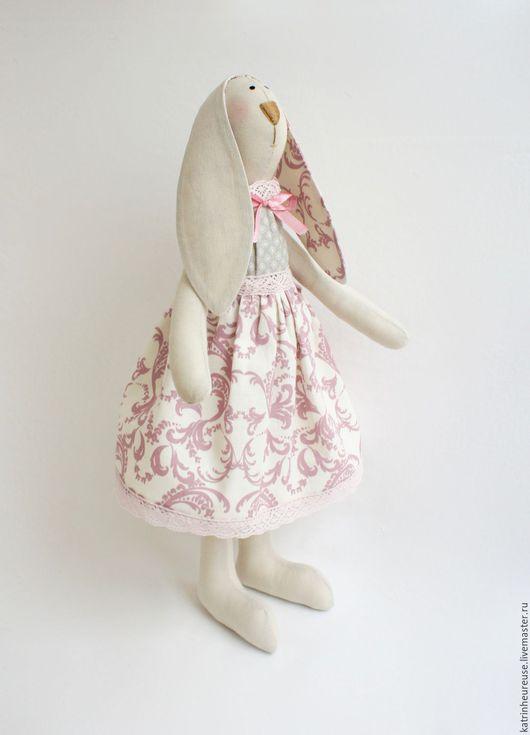 Куклы Тильды ручной работы. Ярмарка Мастеров - ручная работа. Купить Кролик тильда. Handmade. Бледно-розовый, подарок на новый год