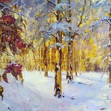 Картины и панно ручной работы. Ярмарка Мастеров - ручная работа Краски зимы. Handmade.