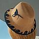 """Шляпы ручной работы. Ярмарка Мастеров - ручная работа. Купить """"Карамель"""". Handmade. Бежевый, женская шляпа, модная одежда"""